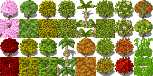 tileset d'arbres YiingTreesFury