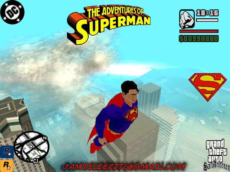 سوبر مان داخل لعبة gta san andreas اعجوبة اليس كذلك+trainars Superman1