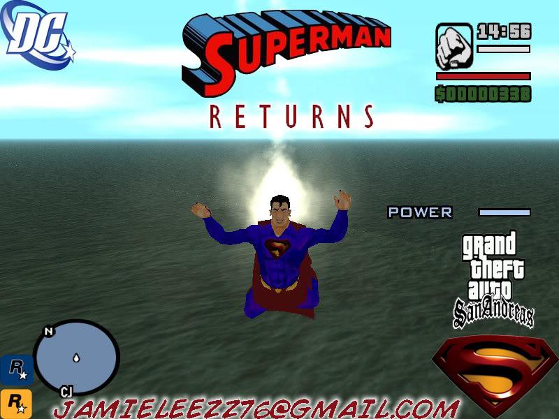 سوبر مان داخل لعبة gta san andreas اعجوبة اليس كذلك+trainars SupermanReturns1