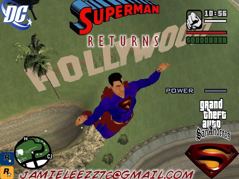 سوبر مان داخل لعبة gta san andreas اعجوبة اليس كذلك+trainars SupermanReturns2