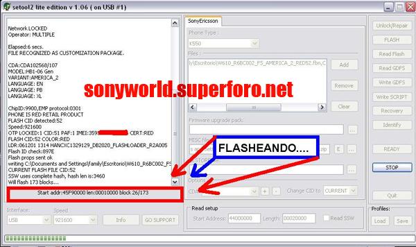 .::Convierte tu K550@W610::. FLASHEANDO