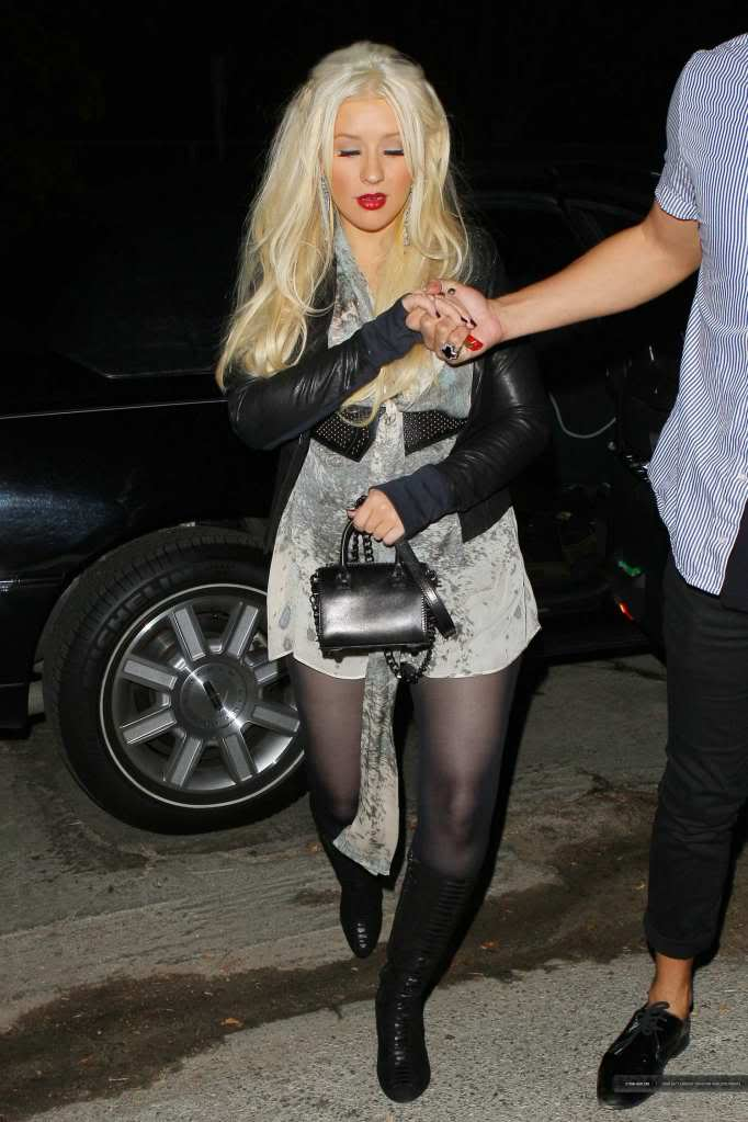 Xtina out in Studio City 02-3