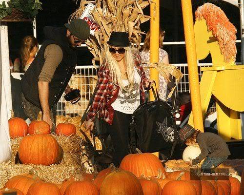 Christina  At Mr Bones Pumpkin Patch With Max & Matt  02