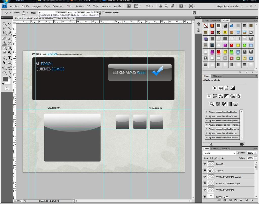 Creando layout...... Web