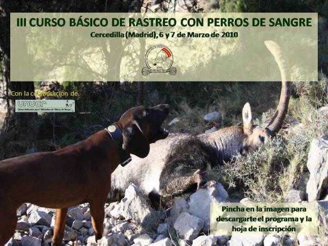 III Curso Básico de Rastreo con Perros de Sangre CartelCurso2010web