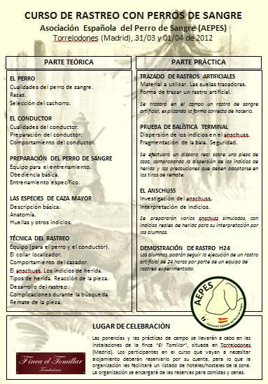 Actividades AEPES 2012 Programa