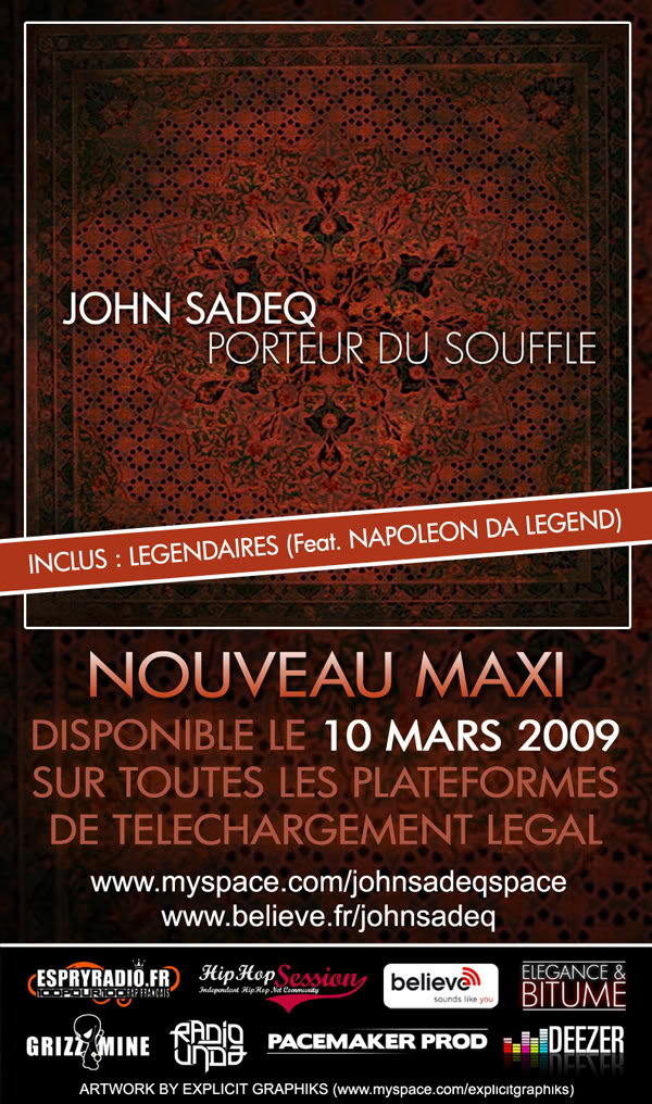 "JOHN SADEQ - ""Porteur du Souffle"" JohnSadeq-PorteurduSouffleflyer"