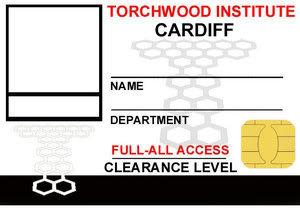 Tempalates TorchwoodIDCardCardiff