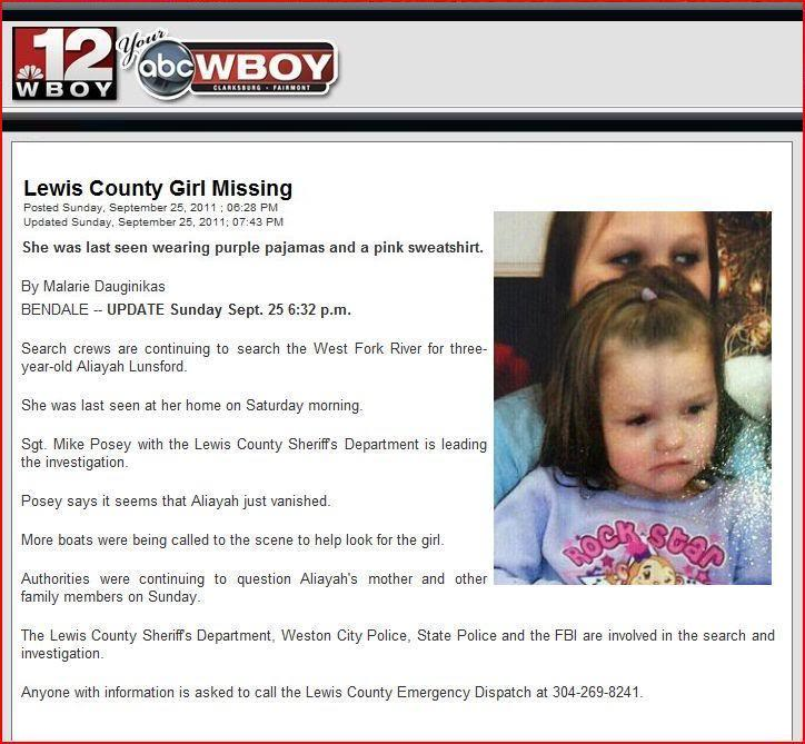 Aliayah Lunsford -- Missing 9/24/11 - Page 5