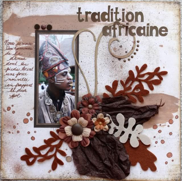 30 mai- Tradition africaine (monochrome brun) Traditionafricaine
