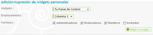Colocar un panel de control 6