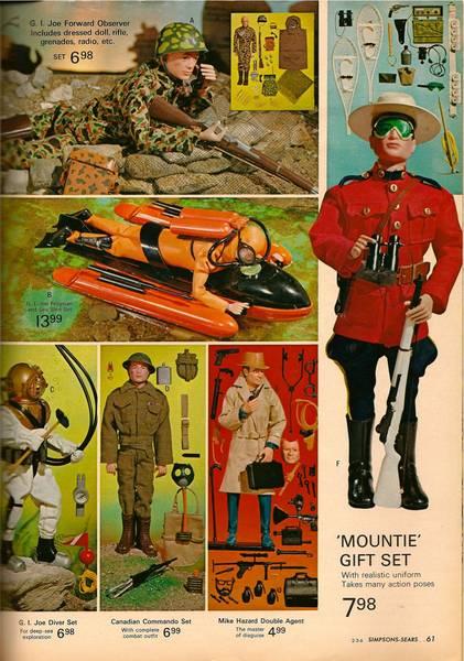 GI Joe Mountie Gift Set Mountie1966_Catalog_p_61-1