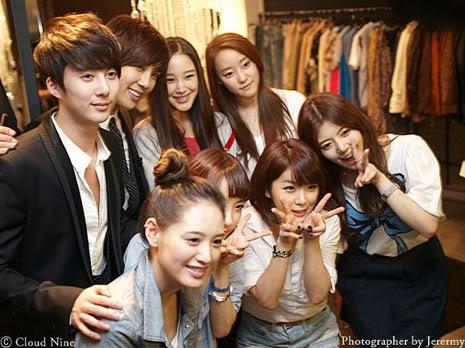 Park Jung Min, Kim Hyung Joon y Rainbow - Royal Ave Fiesta de apertura JM_HJB_partyroyal002
