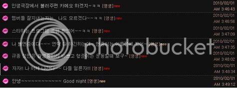 Young Saeng chatea con fans en la sala de TOK en el sitio oficial de SS501 en DSP. YS_message006