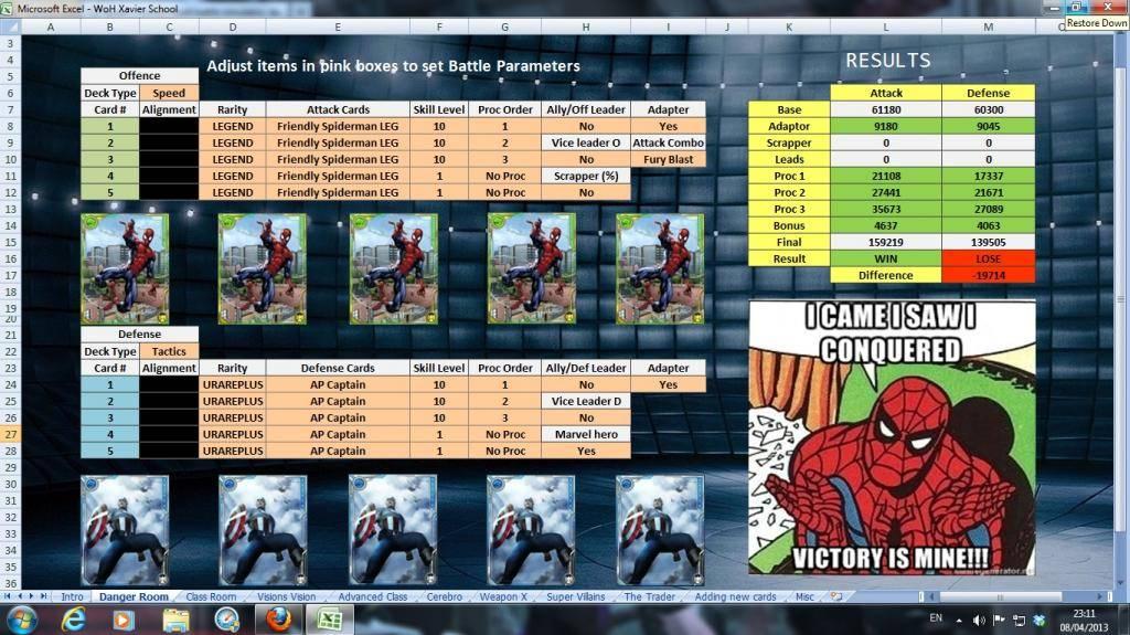 Xavier's School WoH battle simulator, database and more. TheDangerRoom-1