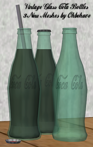 3 new meshes - Vintage Glass Bottles TS2 VGCB1