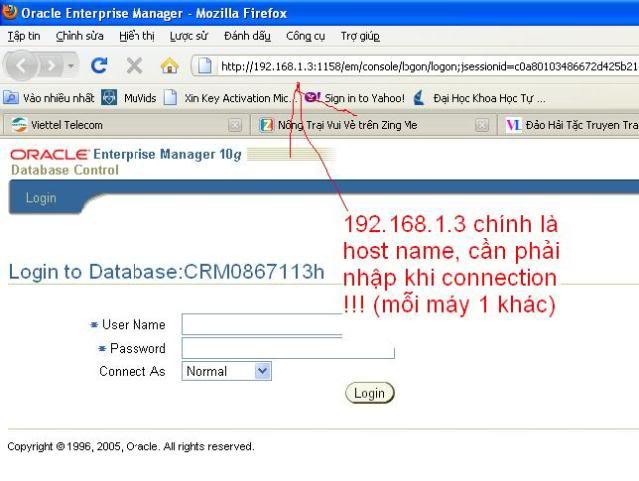 Hướng dẫn cài đặt Oracle 10g Enterprise 02