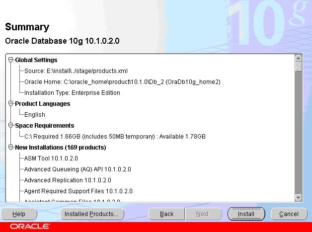 Hướng dẫn cài đặt Oracle 10g Enterprise 03
