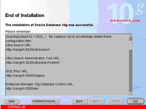 Hướng dẫn cài đặt Oracle 10g Enterprise 08