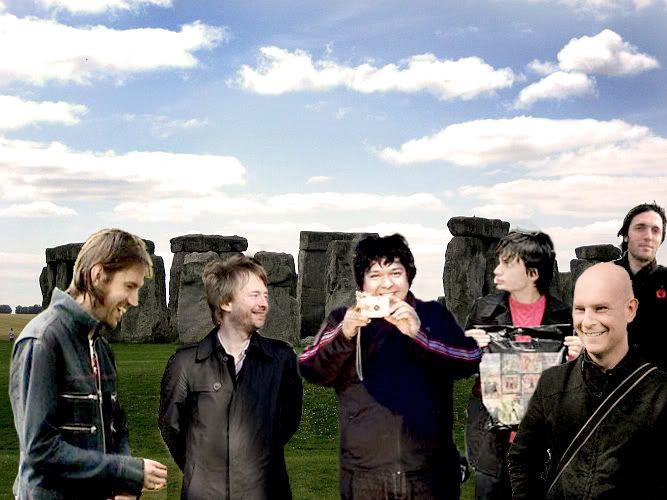 Radiohead e o Photoshop Stooonehenge