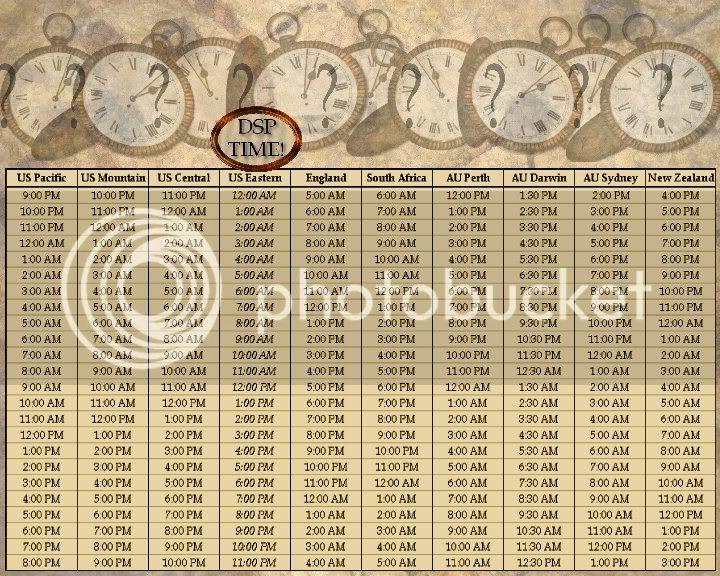 Time Conversion Chart Timezones