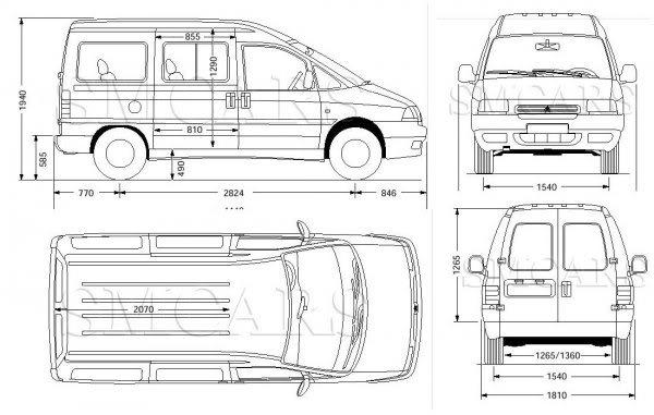medidad interiores de furgos y 4x4