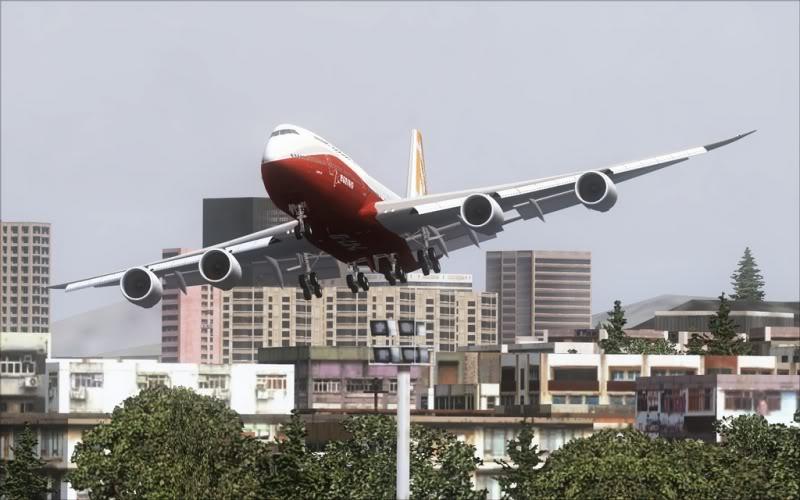 [FS9] Boeing 747-8 Intercontinental pousando em Kai Tak SpeedRacer_159