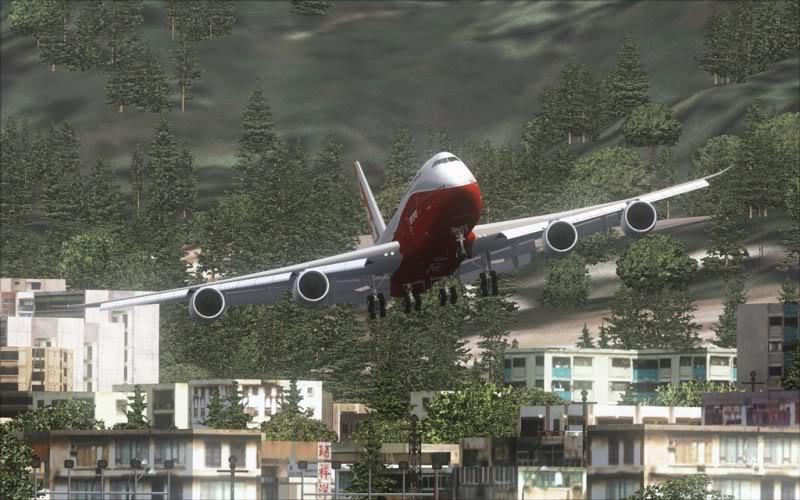 [FS9] Boeing 747-8 Intercontinental pousando em Kai Tak SpeedRacer_160