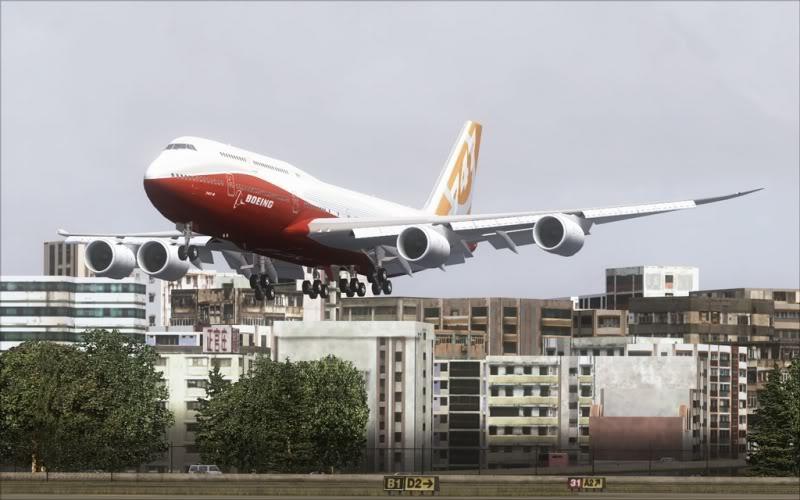 [FS9] Boeing 747-8 Intercontinental pousando em Kai Tak SpeedRacer_162
