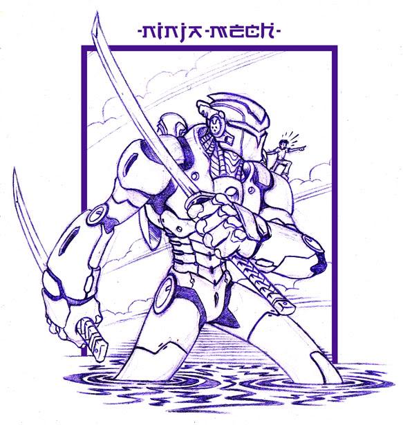 Noctrnlcry's art thread Ninja-mech1a