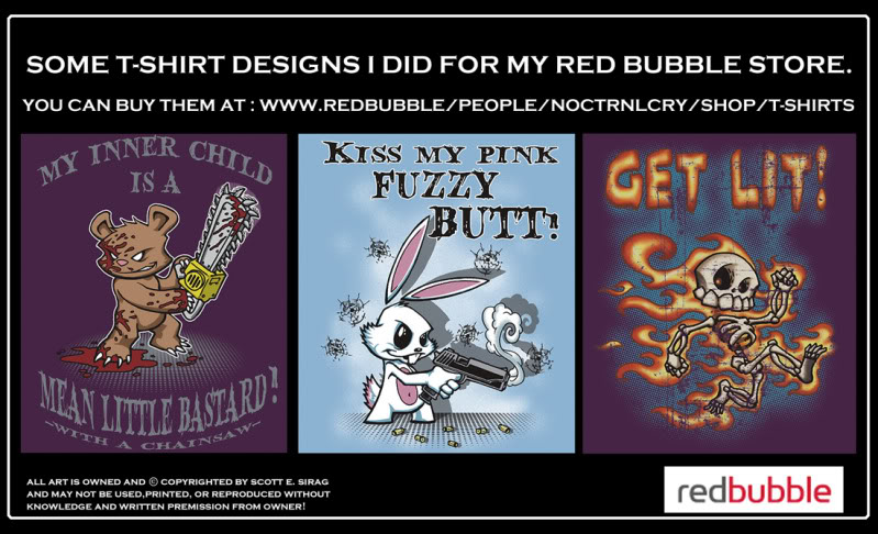 Some t-shirt stuff by NOCTRNLCRY! Redbubbleboards1