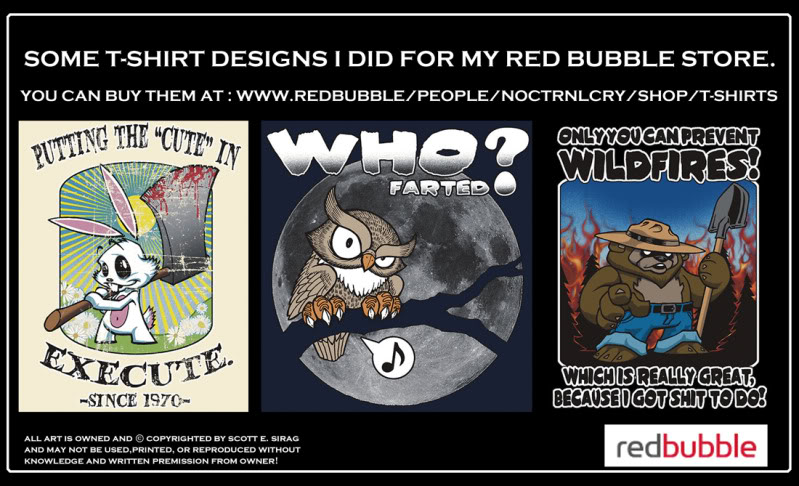 Some t-shirt stuff by NOCTRNLCRY! Redbubbleboards2