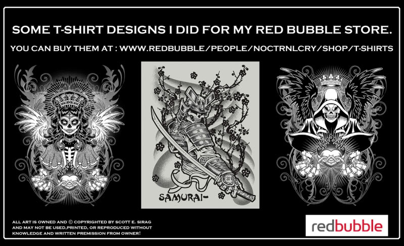 Some t-shirt stuff by NOCTRNLCRY! Redbubbleboards4