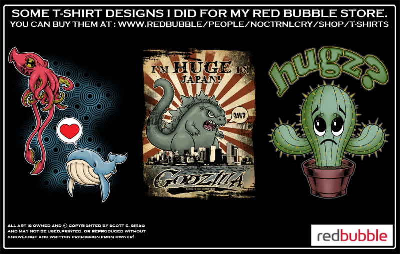 MORE T-SHIRT STUFF FROM NOCTRNLCRY! Take a look!!! Redbubbleboards7