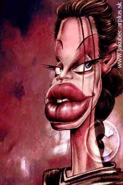 Karikature poznatih Angelina_jolie