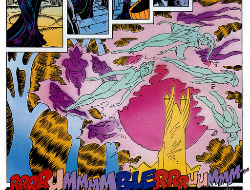 REFERENCE : MAGIC IN ELFQUEST P122_RockShapingAndFloating_HugeMagicFocussing