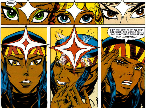 REFERENCE : MAGIC IN ELFQUEST P123_Sending_GatheredPowerToDemonstrateDarkSend