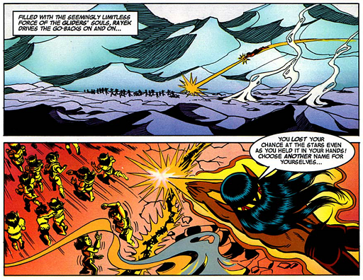 REFERENCE : MAGIC IN ELFQUEST P151_FireMagic_HUGEEnergyBolts_GroupMagic
