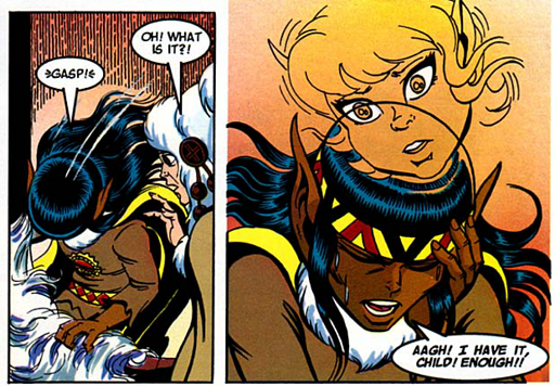 REFERENCE : MAGIC IN ELFQUEST P154_Sending_FromFarAwayAndIntense
