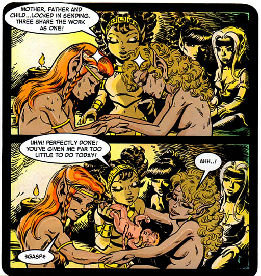 REFERENCE : MAGIC IN ELFQUEST P180_LockSending_FacilitatingBirth