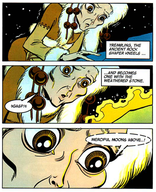 REFERENCE : MAGIC IN ELFQUEST P182_RockShaping_DeterminingAMountainsAging