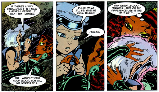 REFERENCE : MAGIC IN ELFQUEST P186_GeneticChange_RemovingTheWolfBlood