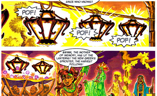 REFERENCE : MAGIC IN ELFQUEST P195_FireMagic_CreatingFlames