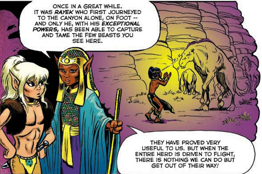 REFERENCE : MAGIC IN ELFQUEST P26_MindControl_OnAnimal