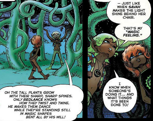 REFERENCE : MAGIC IN ELFQUEST P30_31_PlantControl_MagicFeeling