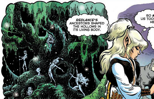 REFERENCE : MAGIC IN ELFQUEST P33_TreeShaping