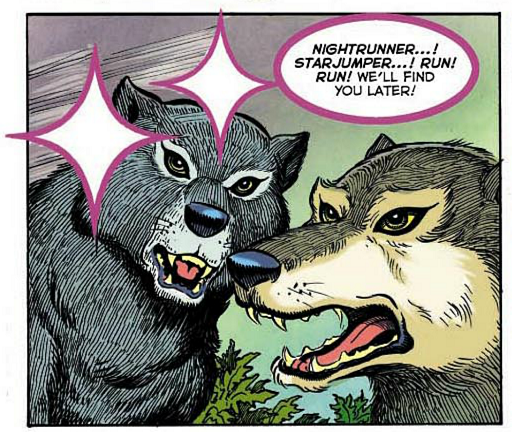 REFERENCE : MAGIC IN ELFQUEST P34_Sending_FromElfToWolf