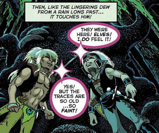 REFERENCE : MAGIC IN ELFQUEST P35_MagicFeeling_Faint