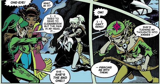 REFERENCE : MAGIC IN ELFQUEST P49_Sending_DarkSend_PiercingBack