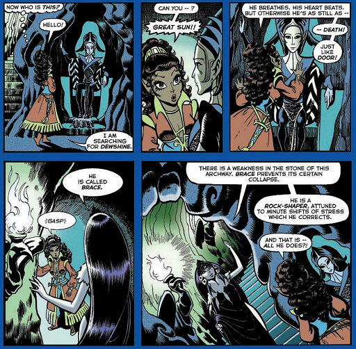REFERENCE : MAGIC IN ELFQUEST P58_LethargicSemiDeadState_RockShaping_Dedicated
